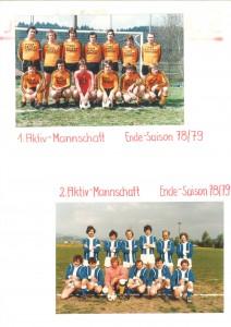 1 und 2 Mannschaft vor 78 / 79